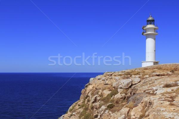 Barbaria lighthouse formentera Balearic islands Stock photo © lunamarina