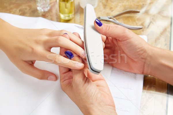 emery polish sandpaper woman nails Salon Stock photo © lunamarina
