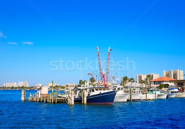 Tengerpart Florida kikötő narancs marina USA Stock fotó © lunamarina