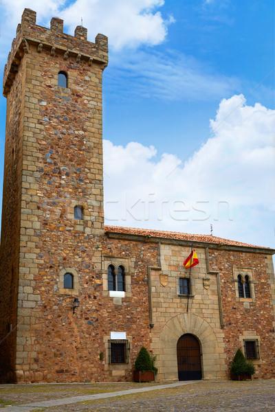 Caceres Ciguenas house tower in Extremadura Stock photo © lunamarina