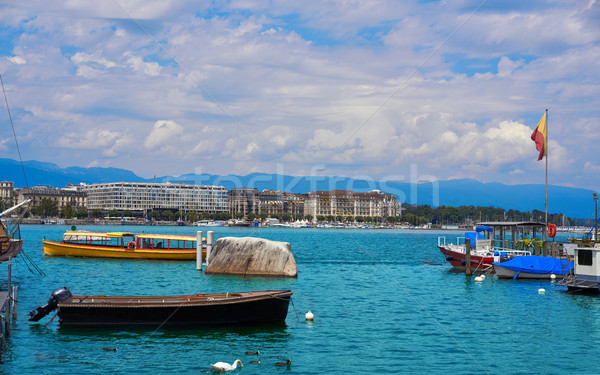 Lago Suíça água primavera cidade Foto stock © lunamarina