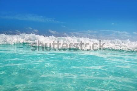 Caribbean mar subaquático azul espuma onda Foto stock © lunamarina