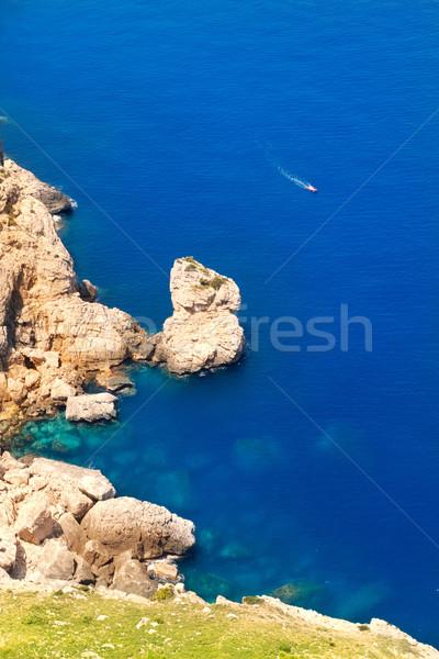 Antenne zee majorca hoog Blauw Stockfoto © lunamarina