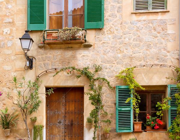Medieval Valldemosa traditional Majorca village Stock photo © lunamarina