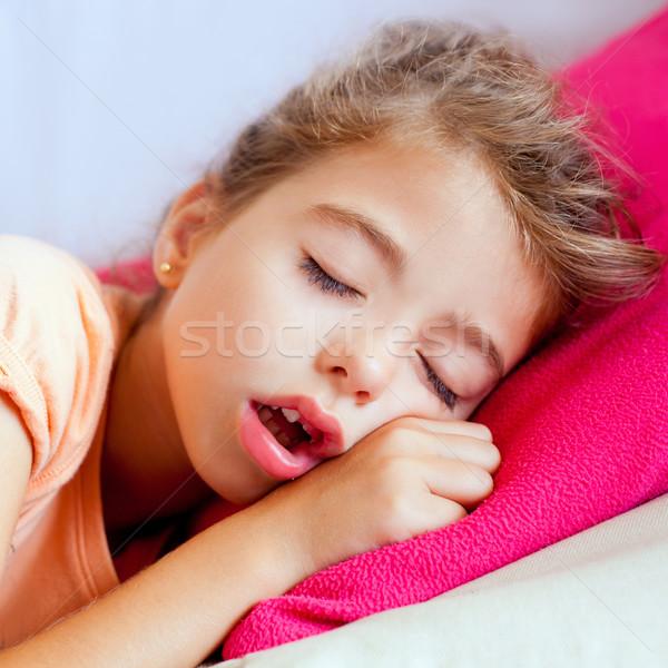 Profondità dormire bambini ragazza primo piano ritratto Foto d'archivio © lunamarina