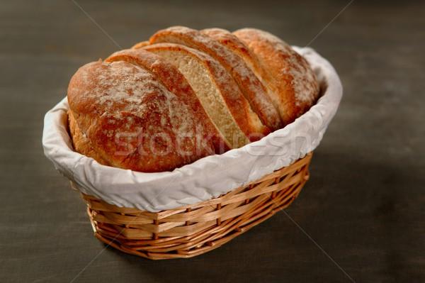 Granen brood brood donkere hout Stockfoto © lunamarina