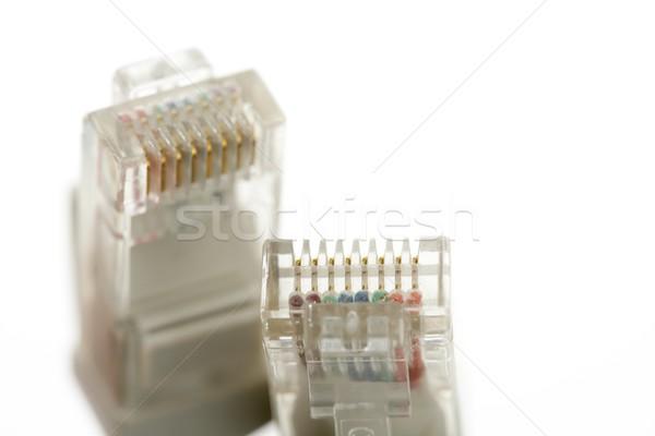 Elektronischen Verbindung Kabel Ethernet Netzwerk Business Stock foto © lunamarina