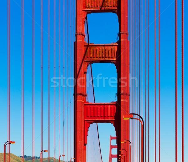 Golden Gate Bridge dettagli San Francisco California USA cielo Foto d'archivio © lunamarina