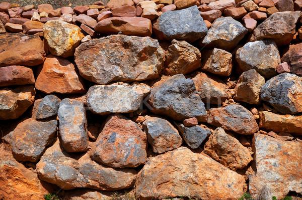 Alvenaria textura Espanha mediterrânico antigo parede Foto stock © lunamarina