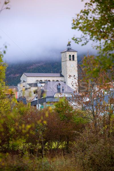 Biescas village in Huesca Aragon Pyrenees of Spain Stock photo © lunamarina