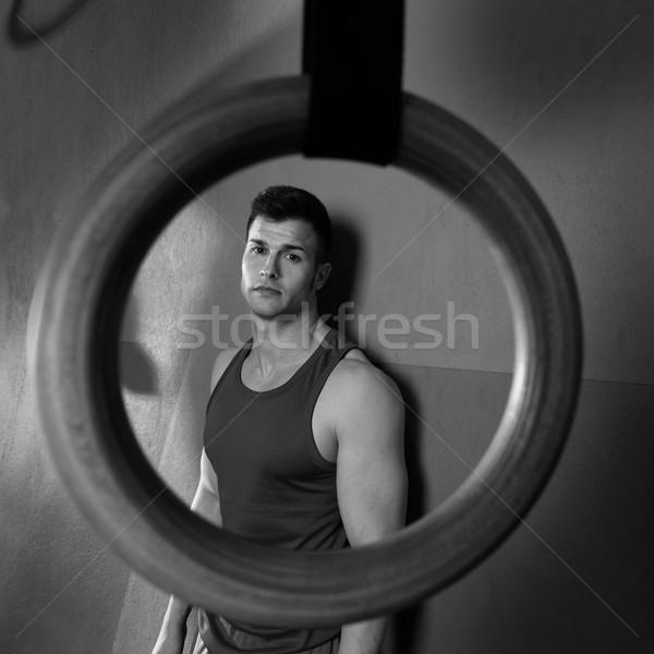 Сток-фото: человека · спортзал · кольца · мнение · тренировки