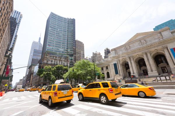 New York Manhattan Public Library Fifth Avenue Stock photo © lunamarina