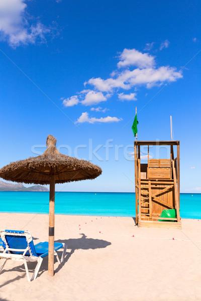 Mallorca pueden playa España cielo Foto stock © lunamarina