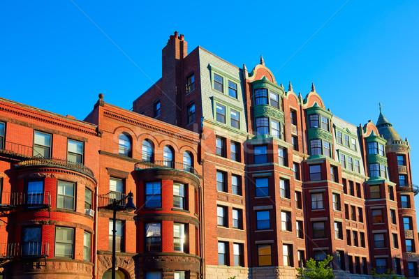 Бостон Массачусетс кирпичная стена Cityscape США небе Сток-фото © lunamarina