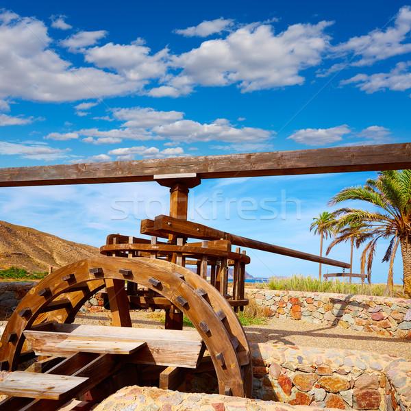Almeria in Cabo de Gata Rodalquilar waterwheel Stock photo © lunamarina