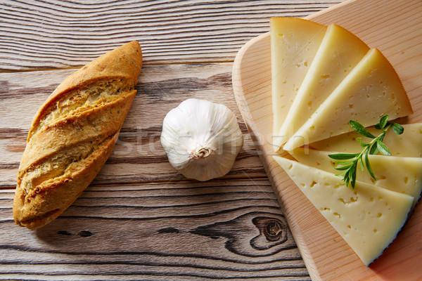 хлеб буханка чеснока сыра Ломтики Сток-фото © lunamarina
