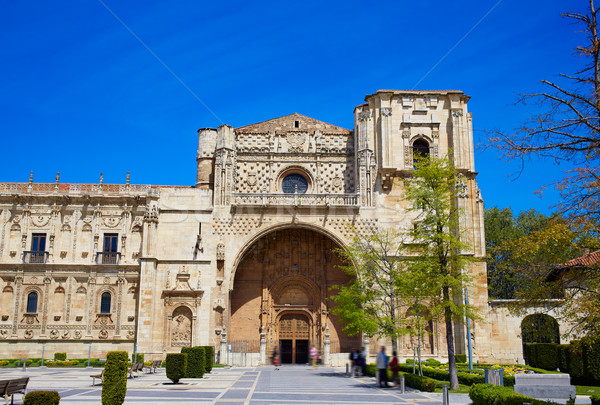 San Marcos in Leon at the way of Saint James Stock photo © lunamarina