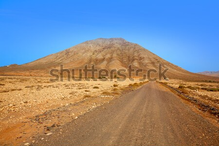 Tindaya mountain Fuerteventura Canary Islands Stock photo © lunamarina