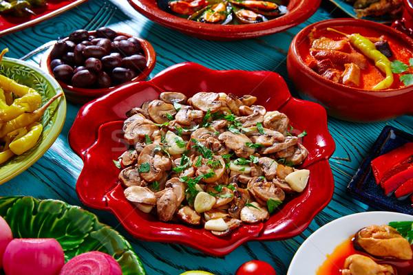Tapas tipik İspanya yağ akşam yemeği Stok fotoğraf © lunamarina