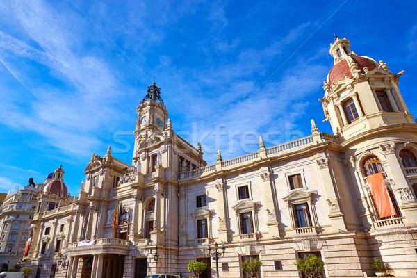 Valencia város épület tér előcsarnok Spanyolország Stock fotó © lunamarina
