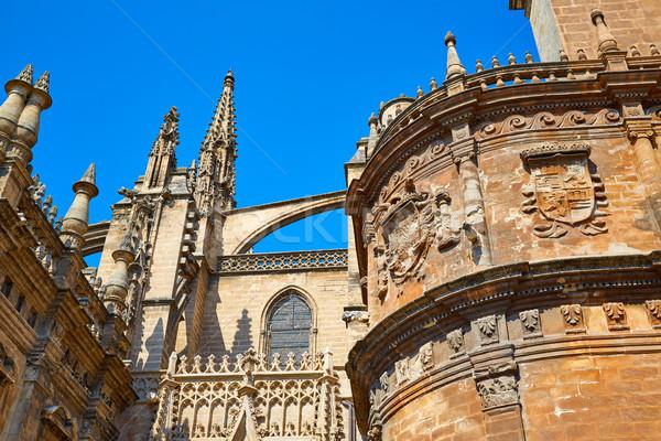 Seville cathedral of Sevilla Andalusia Spain Stock photo © lunamarina