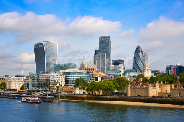 London financial district skyline Square Mile Stock photo © lunamarina