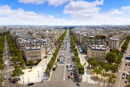 Paris skyline Champs Elysees and Concorde Stock photo © lunamarina