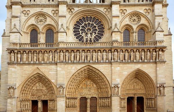 Собор Нотр-Дам Париж Франция французский Готский архитектура Сток-фото © lunamarina