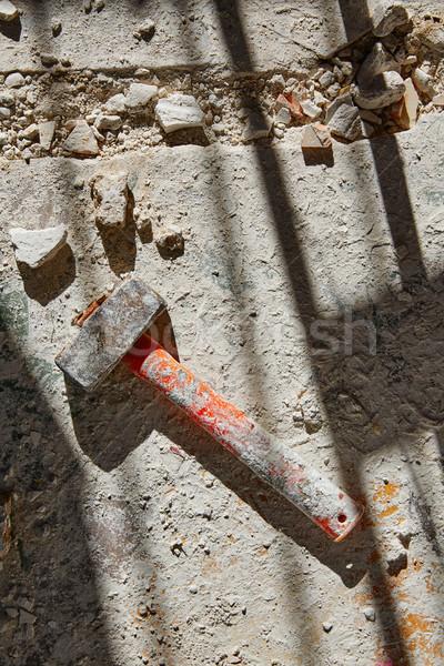 каменщик Vintage молота инструментом дома улучшение Сток-фото © lunamarina