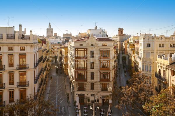Valencia uitzicht op straat Spanje landschap straat zomer Stockfoto © lunamarina