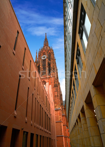 Frankfurt Cathedral Kaiserdon St Bartholomaus Stock photo © lunamarina