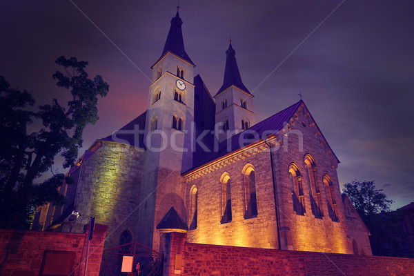 Nordhausen Holy Cross Cathedral in Germany Stock photo © lunamarina