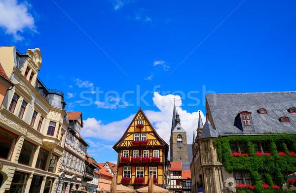 Facciata Germania primavera città blu montagna Foto d'archivio © lunamarina