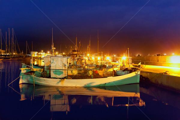 La portu marina rybak łodzi tradycyjny Zdjęcia stock © lunamarina