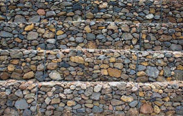 Duvarcılık adımlar dağ yan tenerife Stok fotoğraf © lunamarina