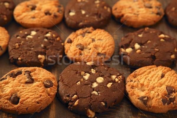 Сток-фото: шоколадом · Cookie · Печенье · сетке