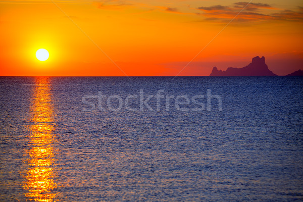Ibiza sunset Es Vedra view from Formentera Stock photo © lunamarina