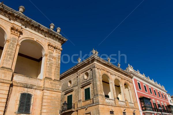 Született belváros város építkezés nyár kék Stock fotó © lunamarina