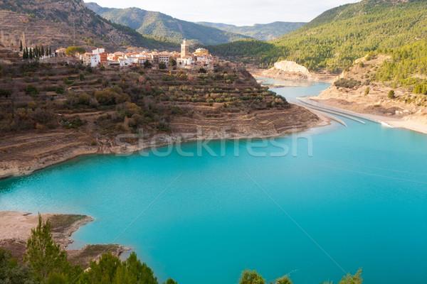 Сток-фото: реке · Испания · воды · весны · пейзаж · горные