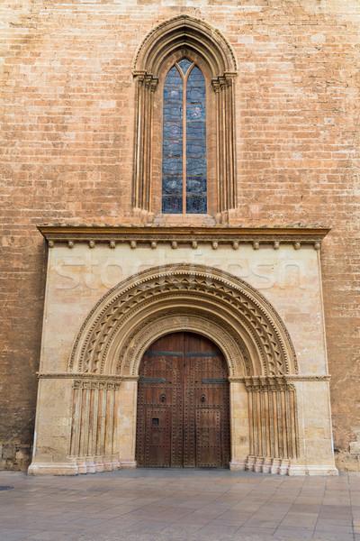バレンシア パラオ ドア 大聖堂 スペイン 建物 ストックフォト © lunamarina