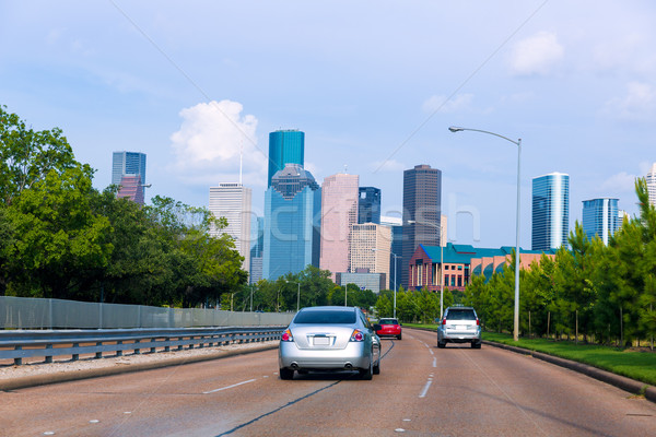 Houston skyline from Buffalo Bayou Pkwy Texas US Stock photo © lunamarina