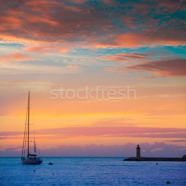 Majorca haven zonsondergang eilanden Spanje gebouw Stockfoto © lunamarina