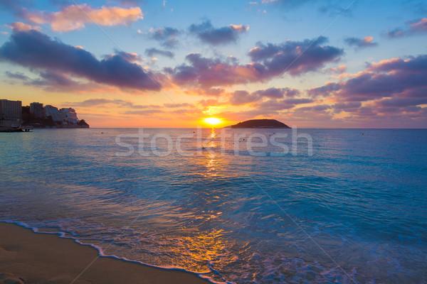 Mallorca nascer do sol praia Espanha água Foto stock © lunamarina