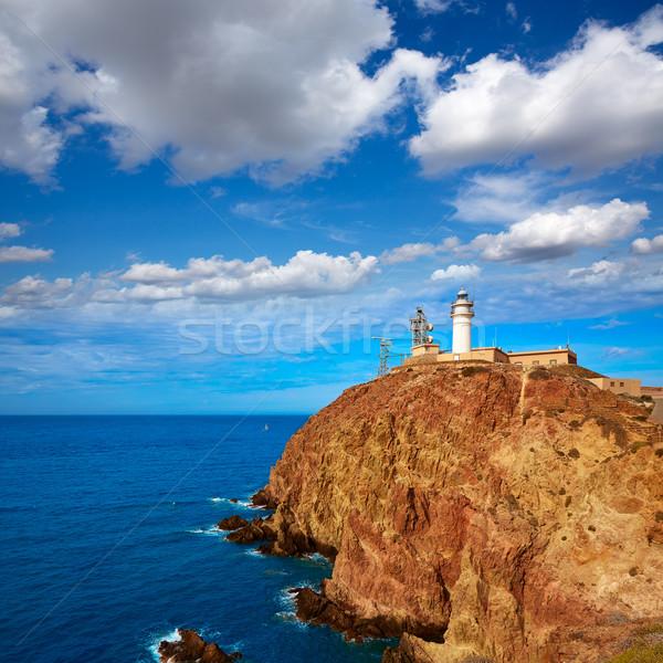Almeria Cabo de Gata lighthouse in Spain Stock photo © lunamarina