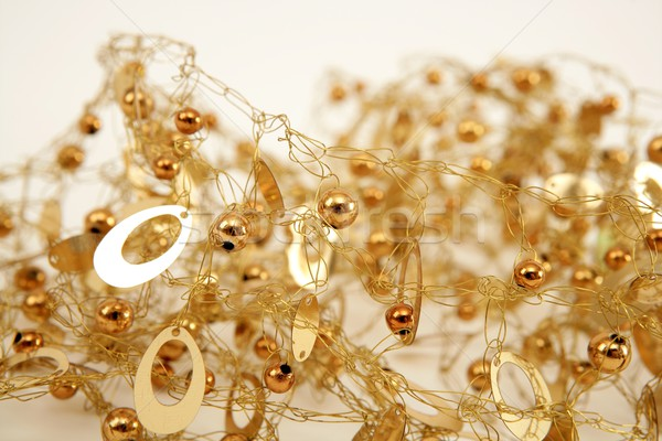 golden jewel messy wired texture balls and oval Stock photo © lunamarina