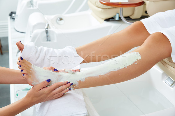 Táplálás hidratáló maszk nő lábak pedikűr Stock fotó © lunamarina