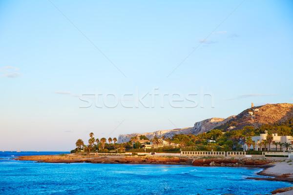 Denia sunset las Rotas in Mediterranean Spain Stock photo © lunamarina