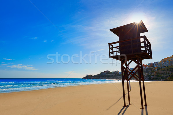 Strand middellandse zee Valencia zee Spanje hemel Stockfoto © lunamarina