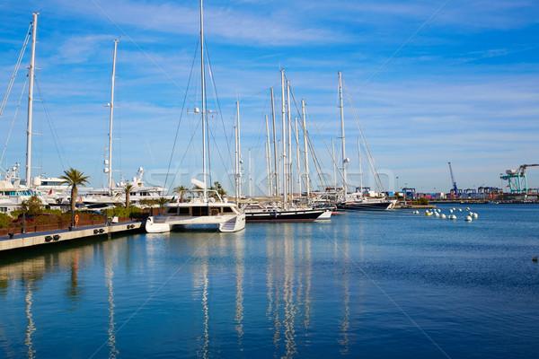 Valencia marina porta mediterraneo Spagna mare Foto d'archivio © lunamarina