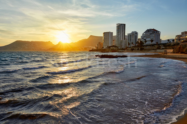 Calpe sunset in Mediterranean in cantal roig  Stock photo © lunamarina